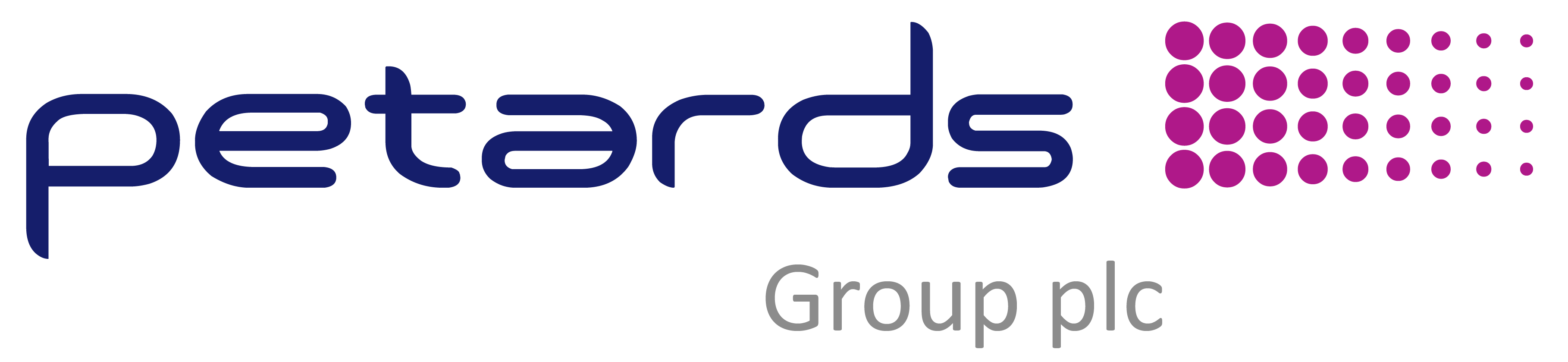 Petards Group plc (Small p) (Mid Grey)