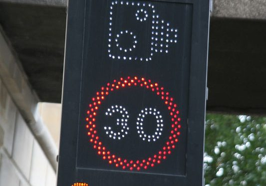 LED Speed warning in London